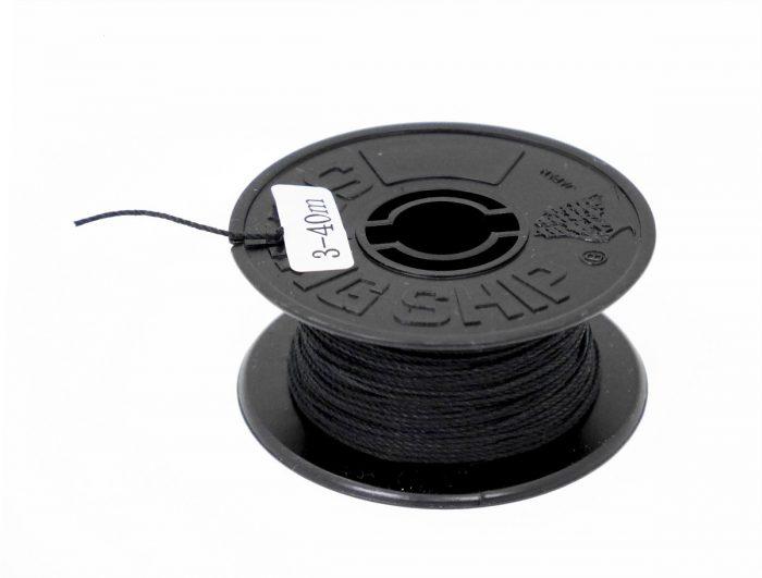 帆船パーツ№3綿ロープ(黒) 1